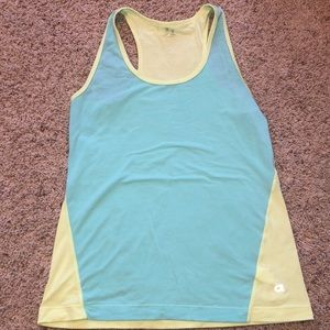 Gap fit mint and yellow tank